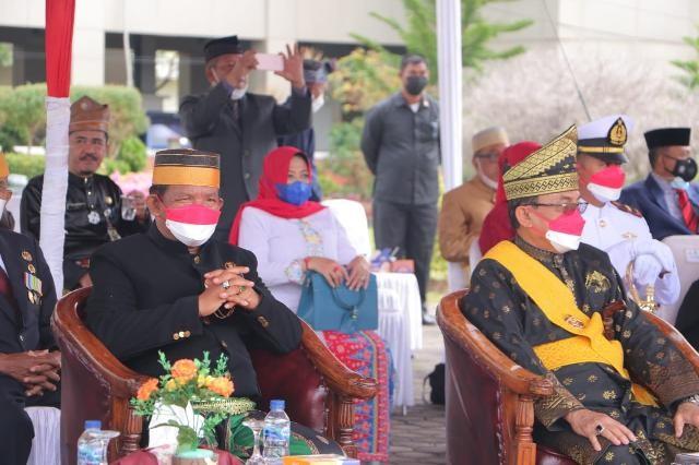 Andi Rusli Wakili DPRD Inhil pada Upacara HUT RI ke-76 Tahun 2021