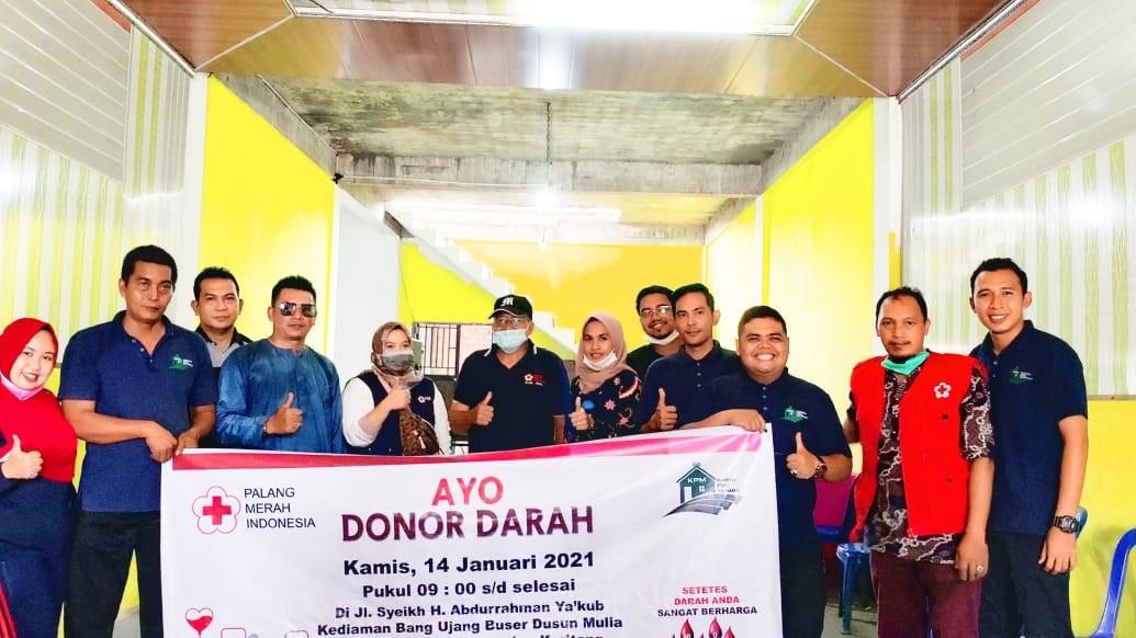 Komunitas Peduli Masyarakat Adakan Aksi Donor Darah Bersama PMI Inhil dan PMI Keritang