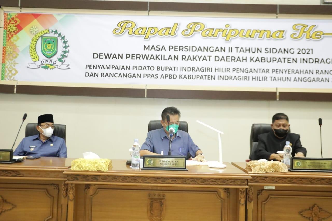 DPRD Inhil Gelar Rapat Paripurna KUA PPAS Tahun 2022