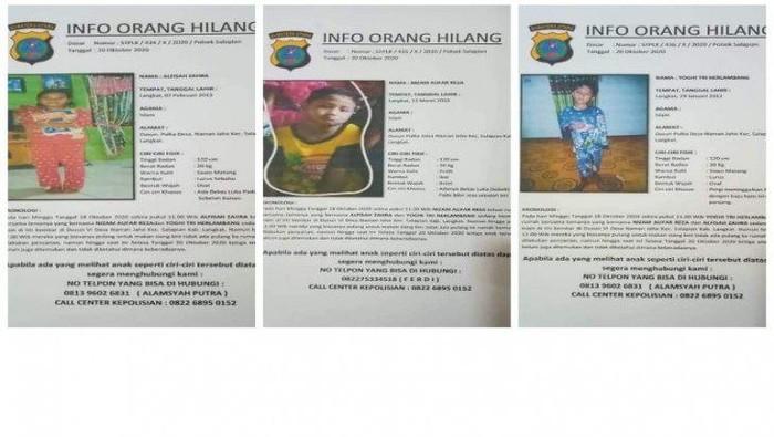Sudah Lebih 2 Bulan, 3 Anak Hilang di Langkat Sumut Belum Ditemukan