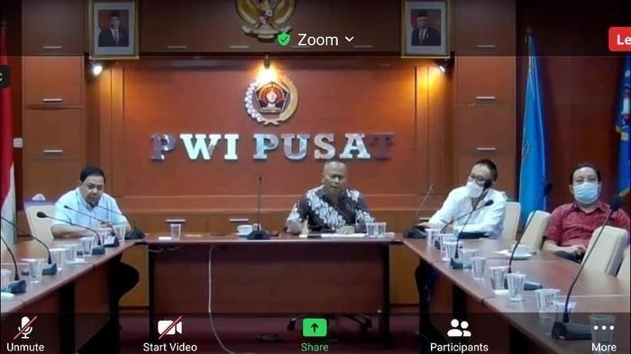 Bahas HPN 2021, PWI Pusat Mengadakan Virtual Meeting dengan Ketua MPR-RI